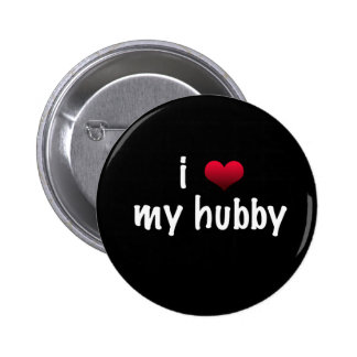 I love my hubby 6 cm round badge