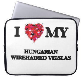 I love my Hungarian Wirehaired Vizslas Laptop Computer Sleeves