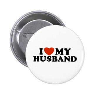 I Love My Husband 6 Cm Round Badge