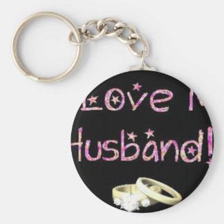 I love my husband alot keychain