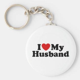 I Love My Husband Basic Round Button Key Ring