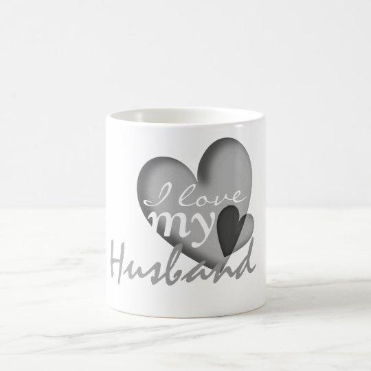 I love my husband black & white heart
