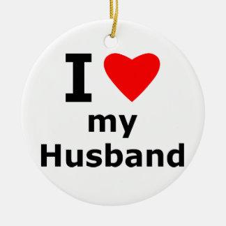 I Love My Husband Christmas Ornament