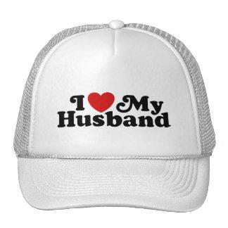 I Love My Husband Trucker Hats