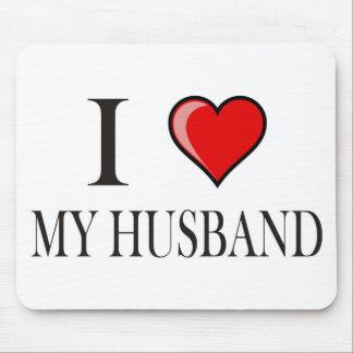 I Love My Husband Mouse Pads