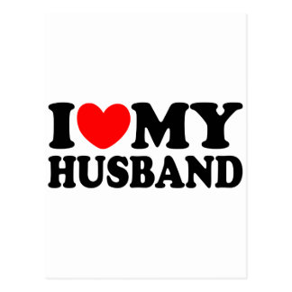 I Love My Husband Postcard