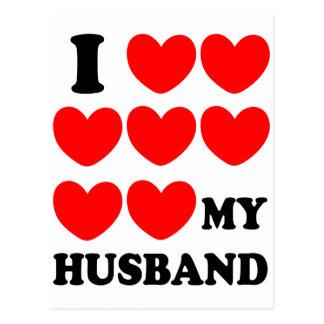 I Love My Husband Postcards