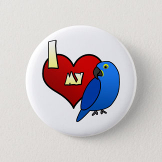 I Love my Hyacinth Macaw 6 Cm Round Badge