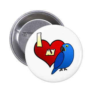 I Love my Hyacinth Macaw 6 Cm Round Badge