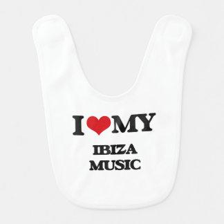 I Love My IBIZA MUSIC Baby Bibs
