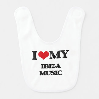 I Love My IBIZA MUSIC Bib
