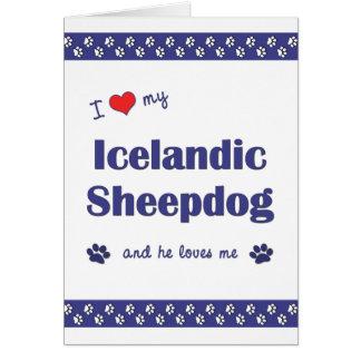 I Love My Icelandic Sheepdog (Male Dog) Note Card