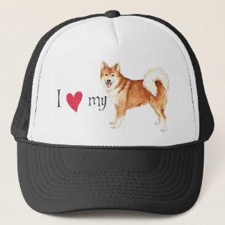 I Love my Icelandic Sheepdog Trucker Hat