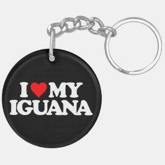 I LOVE MY IGUANA KEY RING
