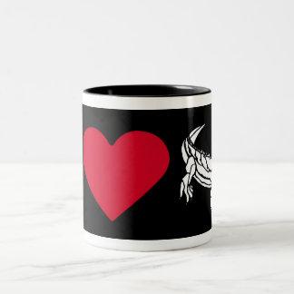 """I Love my Iguana"" Two-Tone Coffee Mug"