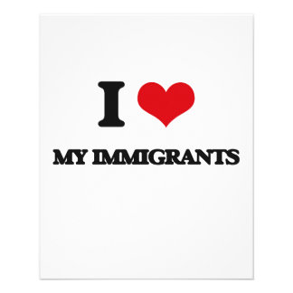 I Love My Immigrants Flyers