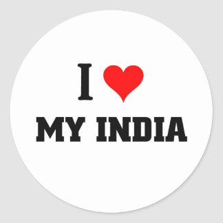 I love my India Classic Round Sticker