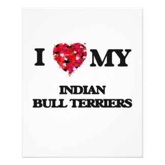 I love my Indian Bull Terriers 11.5 Cm X 14 Cm Flyer