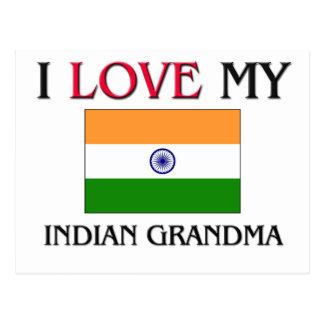 I Love My Indian Grandma Postcard