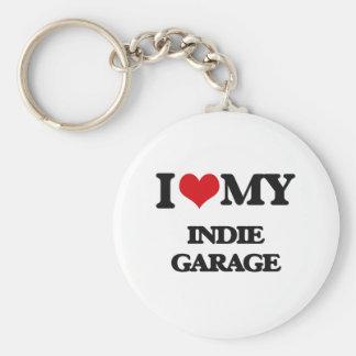 I Love My INDIE GARAGE Key Chain