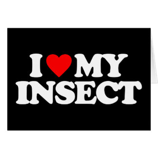 I LOVE MY INSECT GREETING CARD
