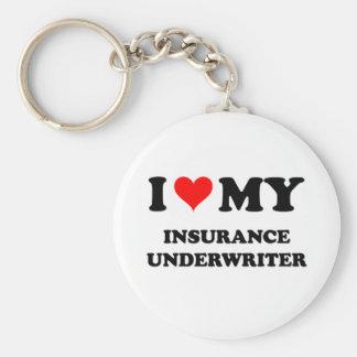I Love My Insurance Underwriter Key Ring