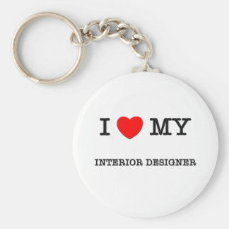 I Love My INTERIOR DESIGNER Basic Round Button Key Ring