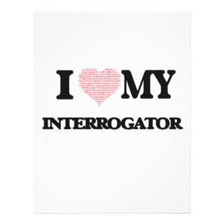 I love my Interrogator (Heart Made from Words) 21.5 Cm X 28 Cm Flyer