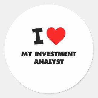 I love My Investment Analyst Sticker