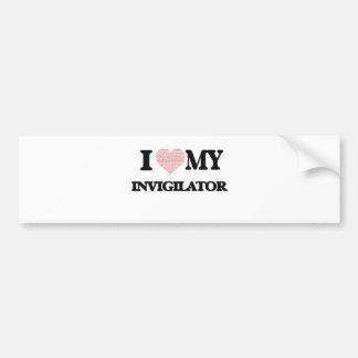 I love my Invigilator (Heart Made from Words) Bumper Sticker
