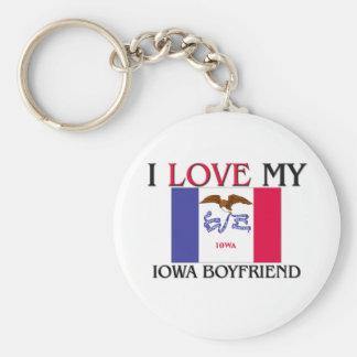 I Love My Iowa Boyfriend Key Ring