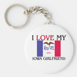 I Love My Iowa Girlfriend Key Ring