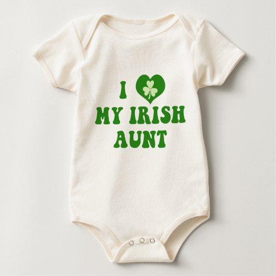 I Love My Irish Aunt Organic Baby Shirt