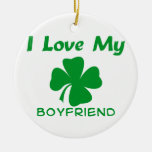 I Love My Irish Boyfriend Round Ceramic Decoration