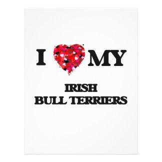 I love my Irish Bull Terrier 21.5 Cm X 28 Cm Flyer