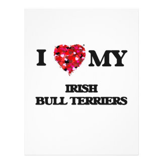 I love my Irish Bull Terriers 21.5 Cm X 28 Cm Flyer