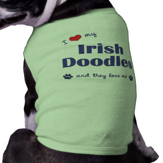 I Love My Irish Doodles (Multiple Dogs) Pet T-shirt