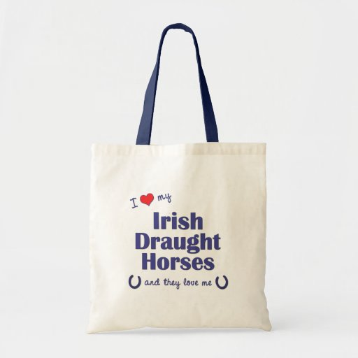 I Love My Irish Draught Horses (Multiple Horses) Tote Bag