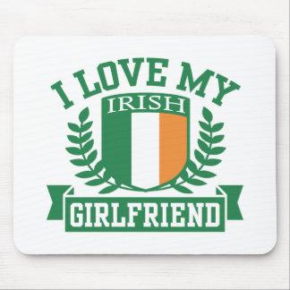 I Love My Irish Girlfriend Mousepads