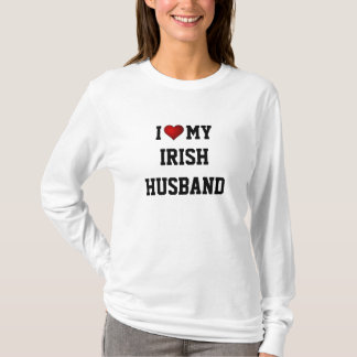 I LOVE MY IRISH HUSBAND t-shirt. T-Shirt