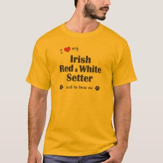 I Love My Irish Red and White Setter (Male Dog) T-Shirt