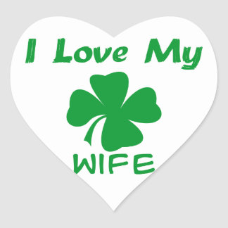I Love My Irish Heart Sticker