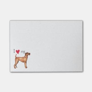 I Love my Irish Terrier Post-it® Notes