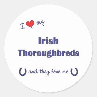 I Love My Irish Thoroughbreds (Multiple Horses) Stickers