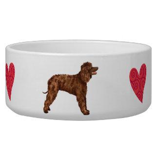 I Love my Irish Water Spaniel Pet Bowls