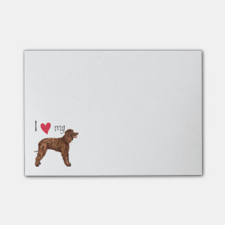 I Love my Irish Water Spaniel Post-it® Notes