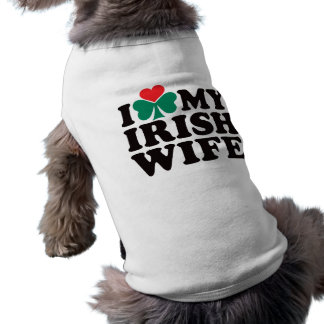 I Love My Irish Wife Sleeveless Dog Shirt