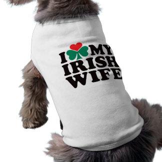 I Love My Irish Wife Sleeveless Dog Shirt