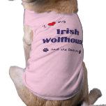 I Love My Irish Wolfhound (Female Dog) Pet Clothes