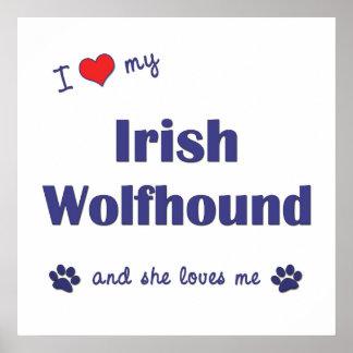 I Love My Irish Wolfhound Female Dog Print